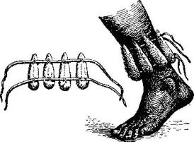 Танцевальная ножная трещетка бушменов