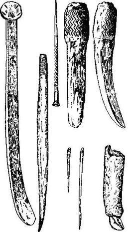 Позднепалеолитические костяные орудия (Костенки-1, Мальта)
