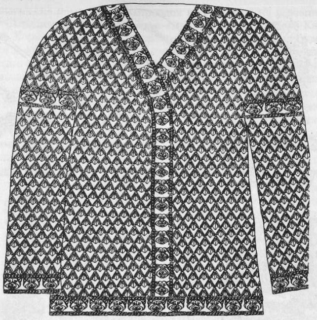 """Рубашка с золотыми нашивками сакского """"царя"""" из кургана Иссык."""