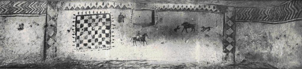 Рис. 7-а. Неаполь Скифский. Роспись западной стены склепа № 9.