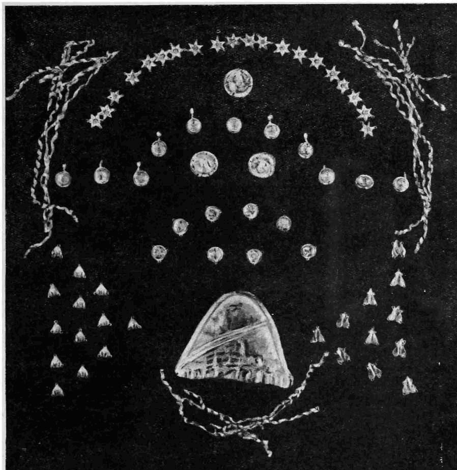 Рис. 8. Неаполь. Скифский. Находки из погребений мавзолея. Золотые украшения из каменного ящика