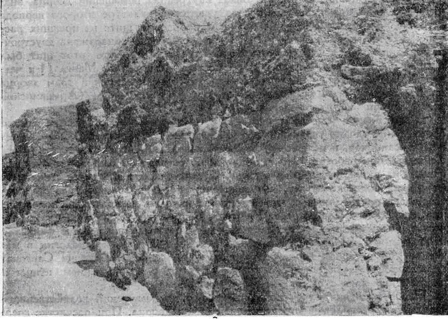 Рис. I. Кармир-Блур. Стены дворца урартского наместника VII в. до н. э.