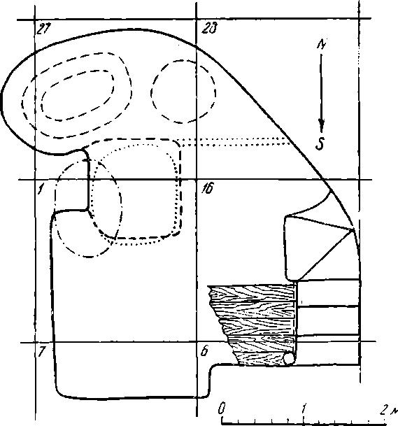 Рис. 37. План полуземлянки