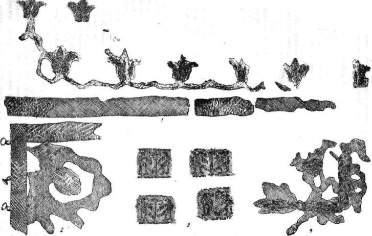 Рис. 36. Старая Рязань. Ткани из погребений