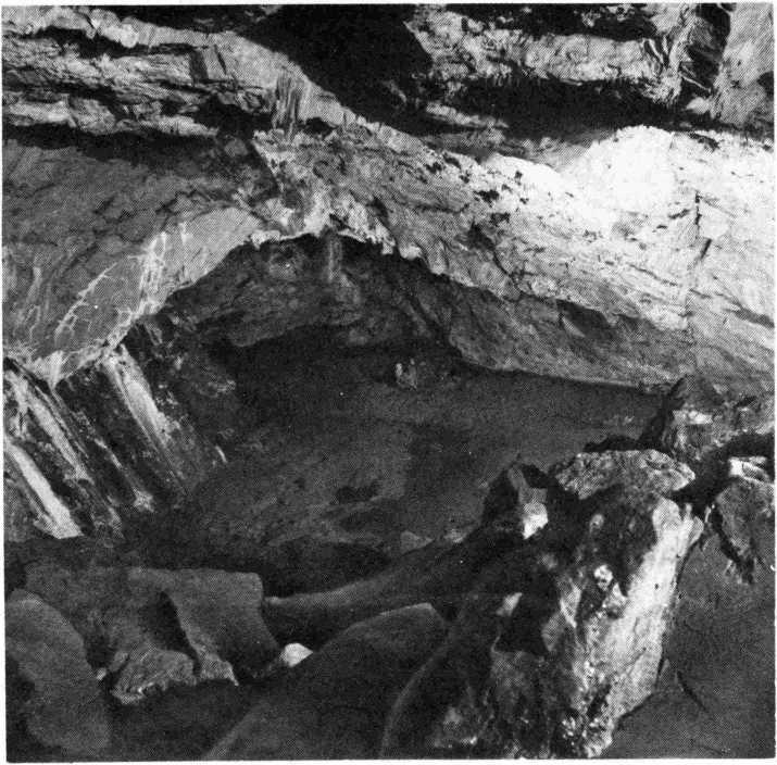 Рис. 1. Каповая пещера. Раскопки в зале Знаков
