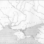 Карта 1. Северное Причерноморье в античную эпоху. Расселение скифских племен по Б. А. Рыбакову