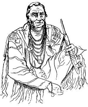 Судья-индеец. Племя черноногих. Северная Америка