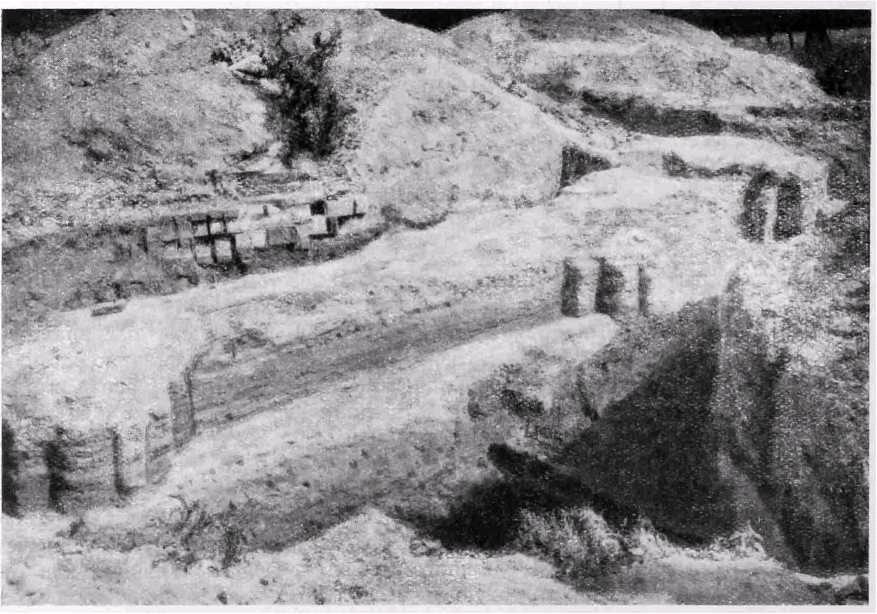 Рис. 506. Киев. Развалины храма на Вознесенском спуске. Западный фасад.