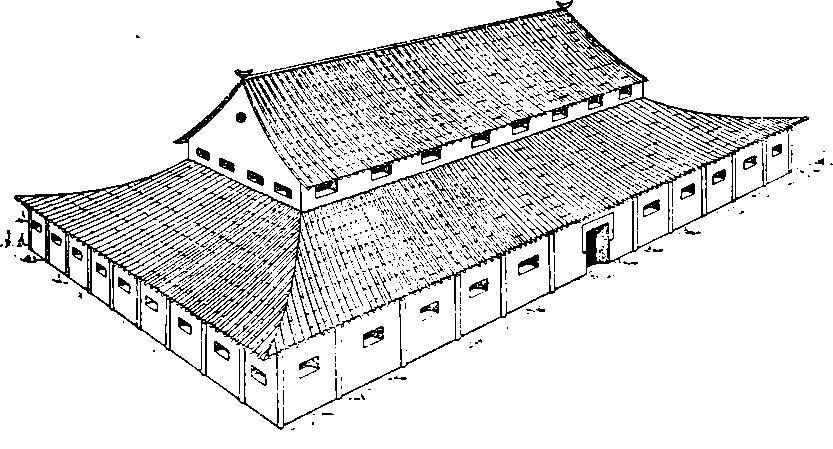 Рис. 26. Первый вариант реконструкции здания