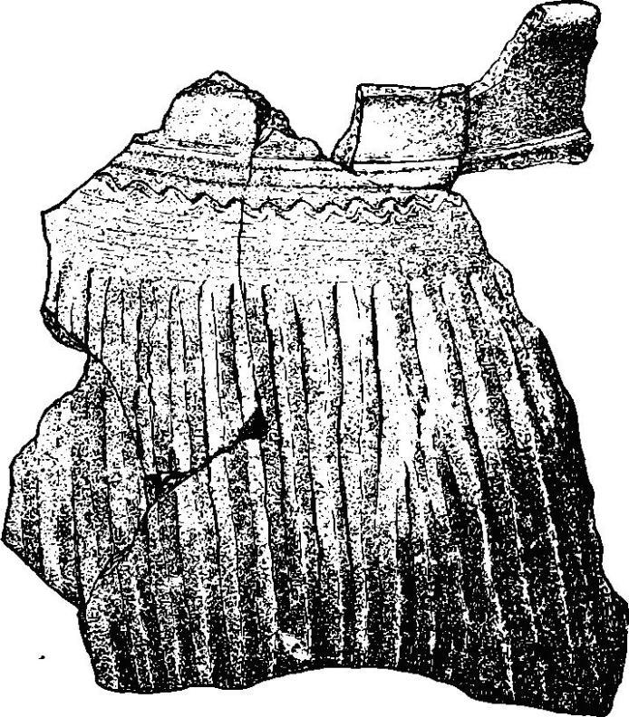Рис. 27. Обломок гуннского сосуда