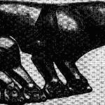 Изображение пантеры на скифской золотой бляхе из Келермесского кургана