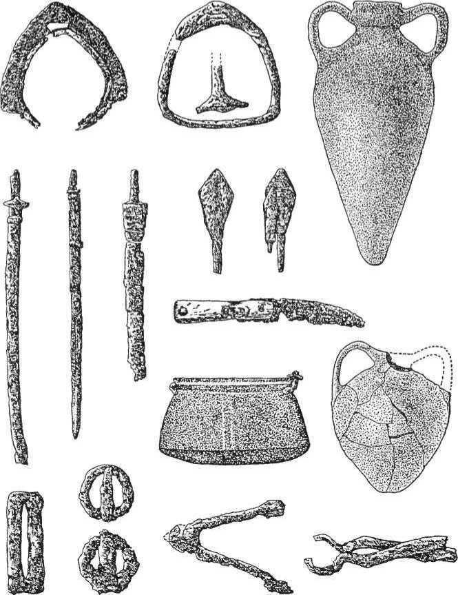Рис. 24. Речі з кочівницьких поховань