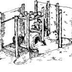 Рис. 4. Реконструкция гончарной мастерской III—IV вв. (внутренний вид)