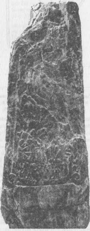 Рис. 119. Изображение на камне из Айоны представляет, видимо, ладью викингов