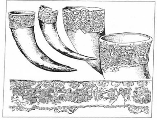 Рис. 6. Ритони з Чорної Могили