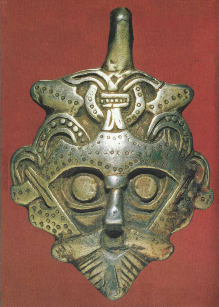Серебряная подвеска из клада X в., найденного в 1868 г. в Гнездово под Смоленском
