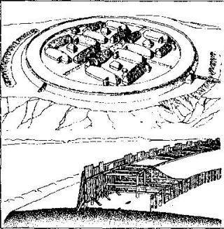 Рис. 43. Крепость Фгоркат (реконструкция)