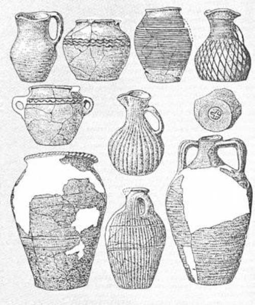 Рис. 28. Кераміка салтівської культури
