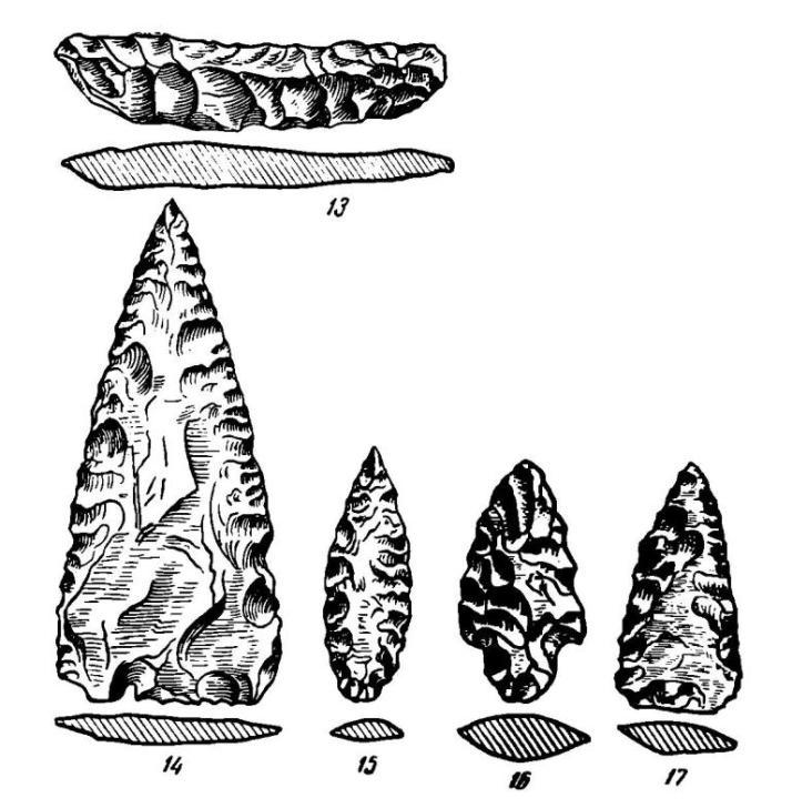 Рис. 2 (продолжение). Каменные орудия с поселения Самусь IV