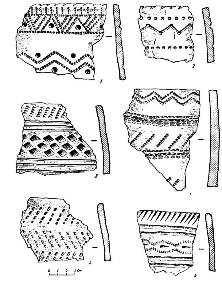 Рис. 5. Керамика с поселения Самусь IV