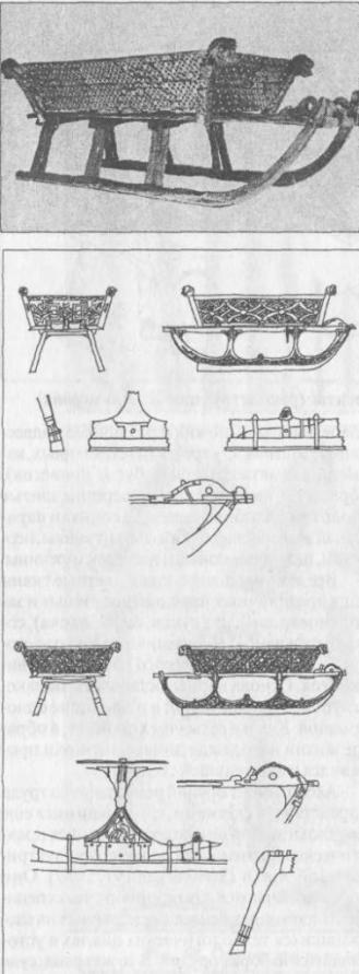 Рис. 70. Сани из погребения в Усеберге