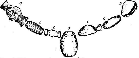 Рис. 122. Ожерелье из Ангелу Рую (3/5).