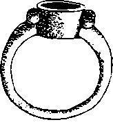 Рис. 20. Золотой перстень из Перещепинского клада (по А. Бобринскому)