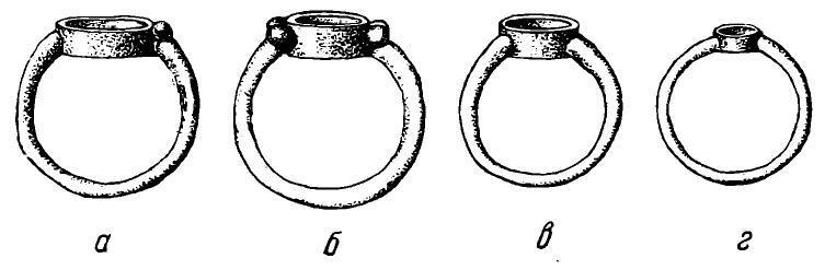 Рис. 21. Серебряные перстни из Самтавро