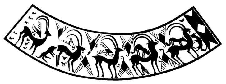 Рис. 2. Красноглиняный сосуд из Шахтахты (II тысячелетие до н. э.)