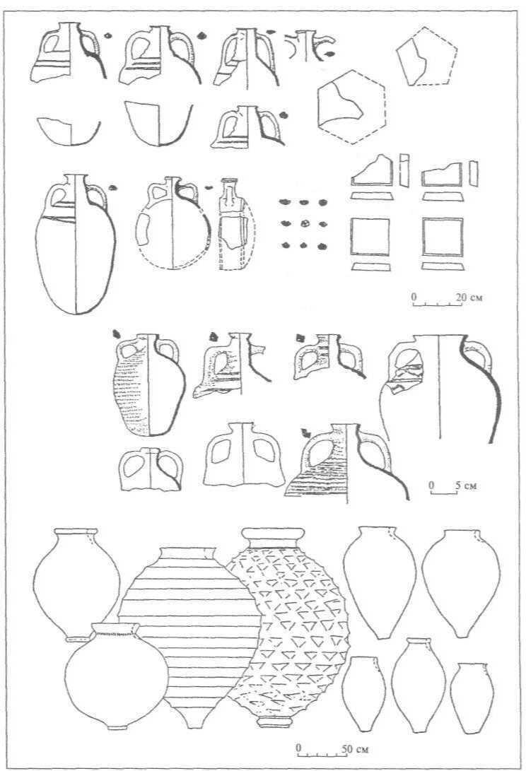 Рис. 28. Кримська середньовічна кераміка