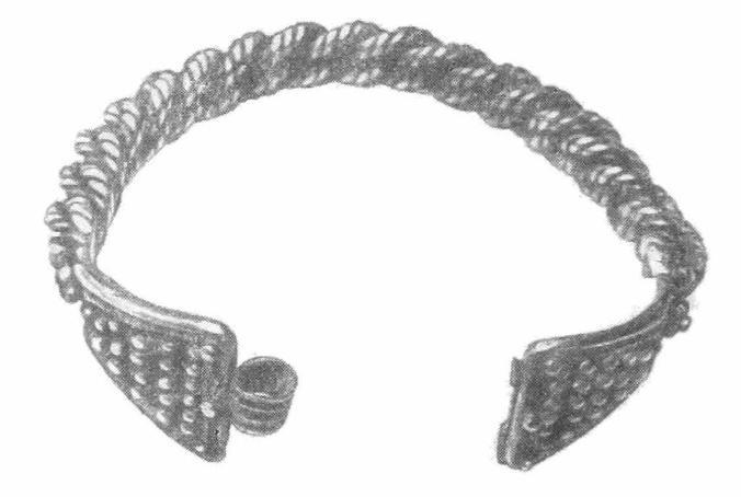 Рис. 3. Витой браслет из Шанхайского клада