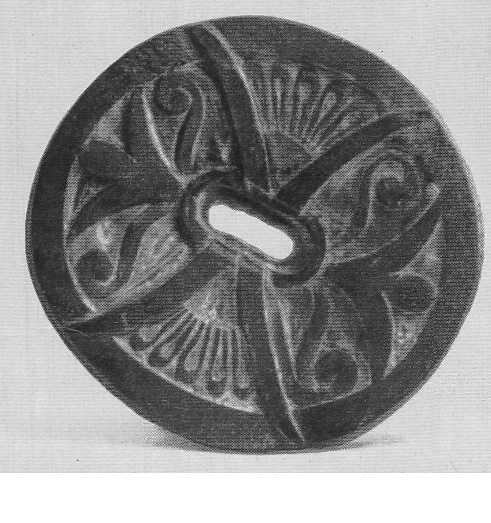 305. Орнамент — логос и пальметка. Пазырык, первый курган.