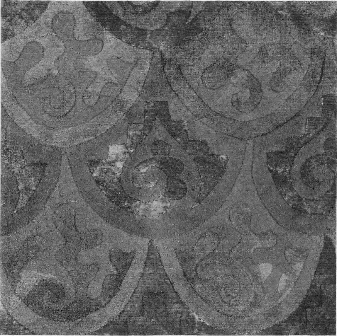 306. Орнамент — войлочный чепрак. Пазырык, первый курган.