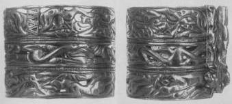 234 а, б. Золотой браслет пластинчатый. Сибирская коллекция.