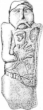 Рис. 9. Скіфська стела, с. Тернівка (за В. Ю. Мурзіпим)