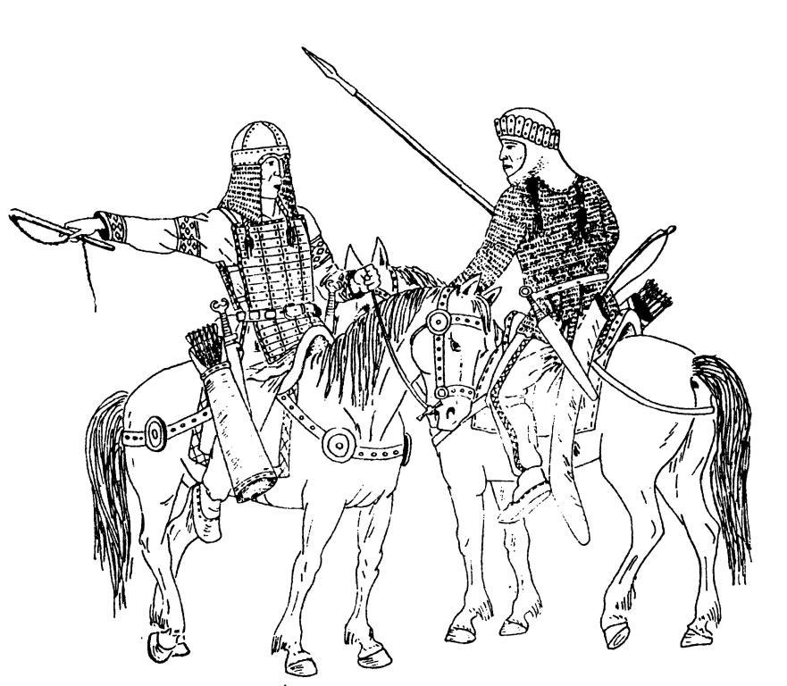 Тяжеловооруженные воины Западной Сибири III-V вв. По А.П. Зыкову