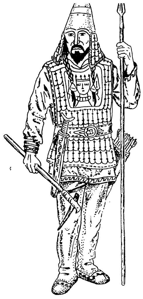 Тяжеловооруженный воин Западной Сибири конца I тыс. до н.э. По А.П. Зыкову