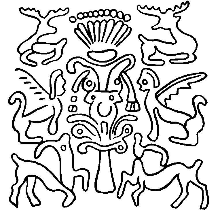Рис. 3. Оттиски печати 2-й сирийской, или митанийской, группы (по: H. Frankfort).