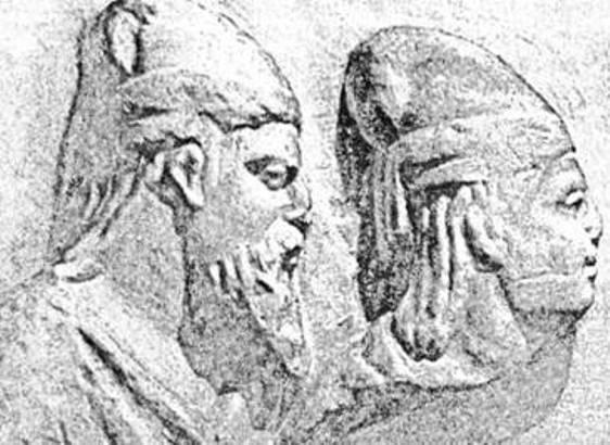 Рис. 17. Скілур і Палак. Рельєф із Неаполя Скіфського