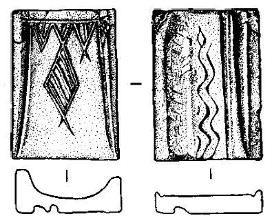 Створка литейной формы нз погребения 64 кургана 25 могильника Сопка 2