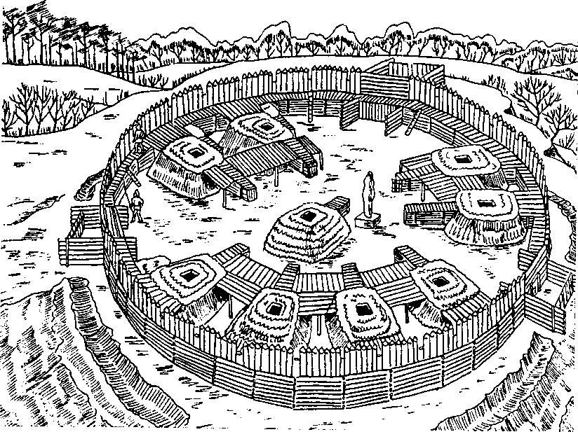 Городище конца VI-VII вв. н.э. в Сургутском Приобье. По А.П. Зыкову