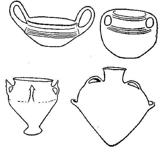 Рис. 37. Минийокая керамика из Фессалии и имитации из Фермона (Этолия).