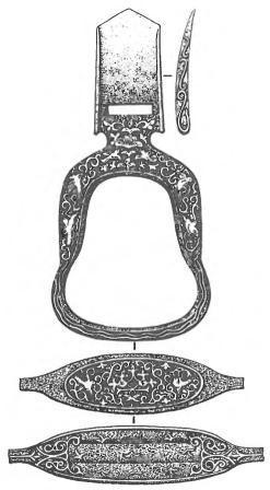 Уйбатский чаатас. Стремя, инкрустированное золотом, серебром и медью