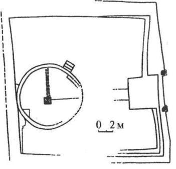 План манихейского храма Миропорядка. Уйбатский город. Хакасия