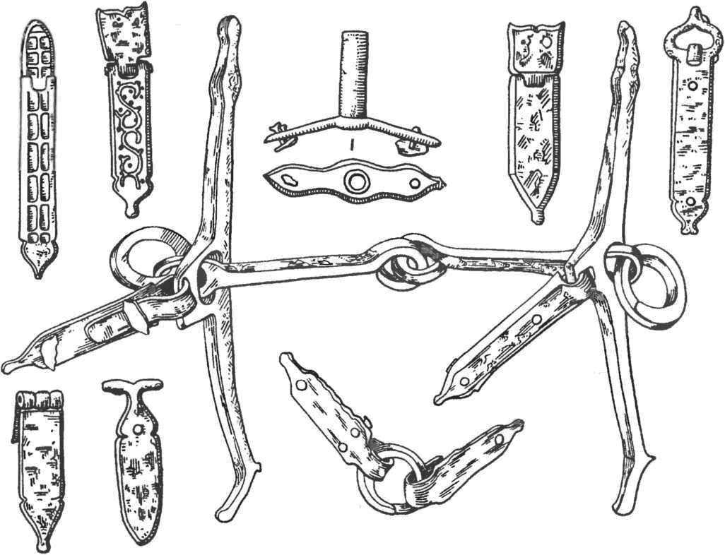 Убранство коня. Железо, аппликация серебром. XI в.