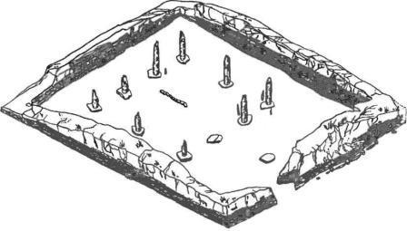 Руины манихейского храма Марса. XI в. Уйбатский город. Хакасия