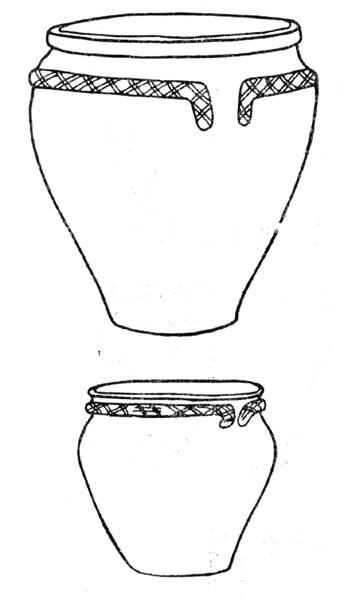 Рис. 78. Сосуды второго периода Срубной культуры из Ивановки