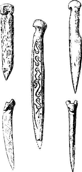 Рис. 28. Старая Ладога. Костяные изделия