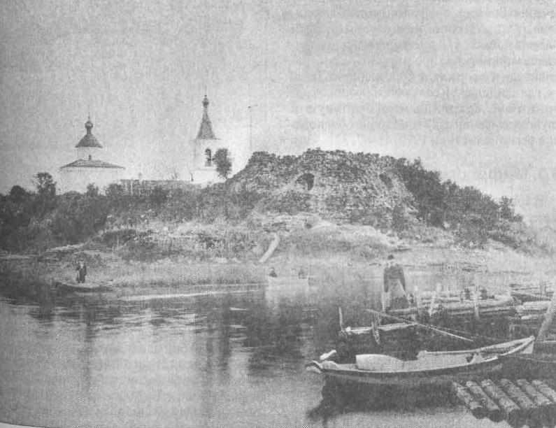 Рис. 140. Старая Ладога. Вид крепости с северной стороны. 1880-90-гг.