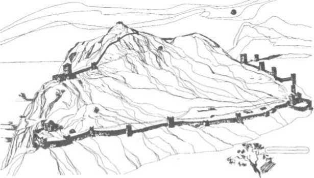 Рис. 29. Реконструкція периметра Судацької фортеці (за І. А. Барановим)